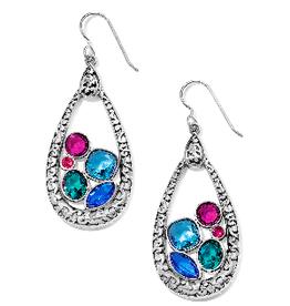 BRIGHTON JA5813 Elora Gems Vitrail Hoop French Wire Earrings