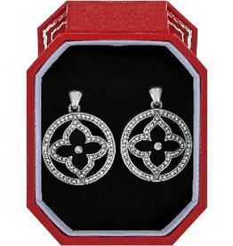 BRIGHTON JD2273 Toledo Alto Noir Post Drop Earrings Gift Box