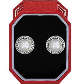 BRIGHTON Chara Ellipse Pearl Post Earrings Gift Box