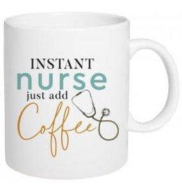 Instant Nurse Just Add Coffee  5.5 x 4.5 Ceramic 15oz. Coffee Mug