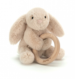 JELLYCAT INC. Shooshu Bunny Wooden Ring Toy