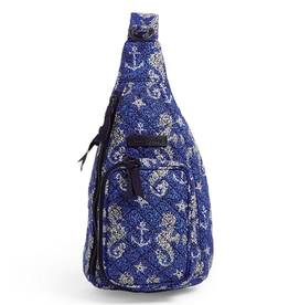 VERA BRADLEY Iconic Mini Sling Backpack Seahorse of Course