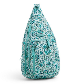 VERA BRADLEY Iconic Sling Backpack Cloud Vine
