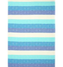 Turkish Beach Towel Waves Blue Bamboo