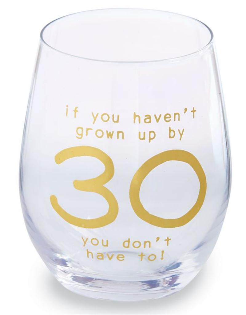 MUDPIE 30 BIRTHDAY BOXED WINE GLASS