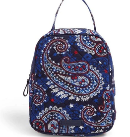 VERA BRADLEY Iconic Lunch Bunch Fireworks Paisley