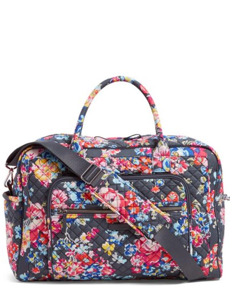 VERA BRADLEY Iconic Weekender Travel Bag Pretty Posies