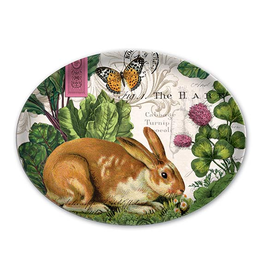 MICHEL DESIGN WORKS GSD250 GLASS SOAP DISH GARDEN BUNNY
