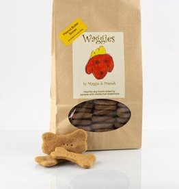 WAGGIES Peanut Butter Bones -Waggies by Maggie and Friends 8oz. bag