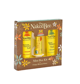 THE NAKED BEE THE NAKED BEE-ORANGE BLOSSOM MINI BEE KIT with HAND SANITZER