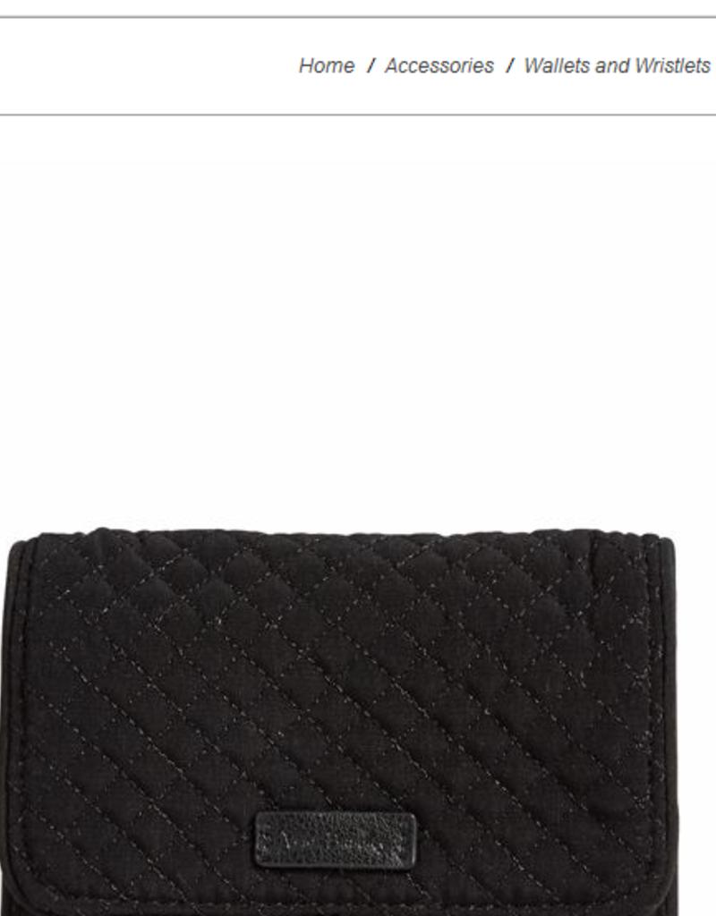 VERA BRADLEY Iconic RFID Riley Compact Wallet Classic Black