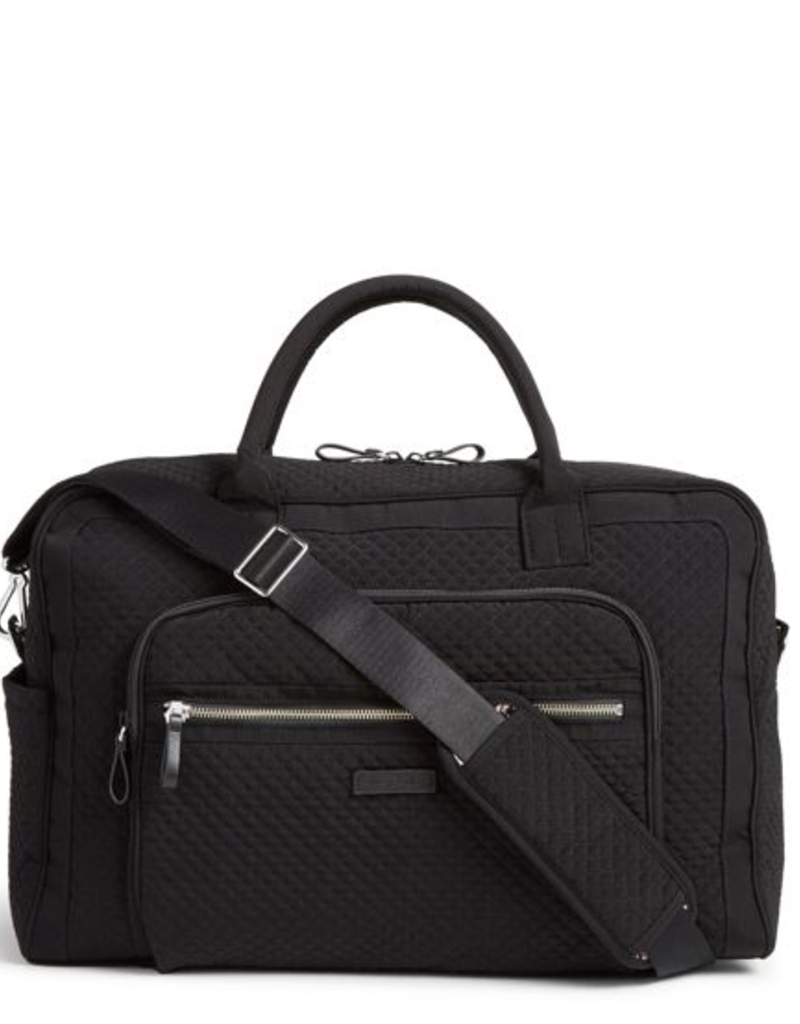 VERA BRADLEY Iconic Weekender Travel Bag Classic Black