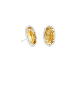 KENDRA SCOTT Ellie Earring Silver Orange Citrine Quartz