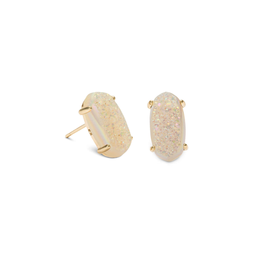 KENDRA SCOTT Betty Earring Gold Iridescent Drusy