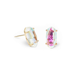 KENDRA SCOTT Betty Earring Gold Dichroic Glass