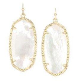 KENDRA SCOTT Elle Gold Drop Earrings In Ivory Mother-Of-Pearl