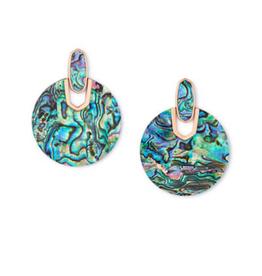 KENDRA SCOTT Didi Earring Rose Gold Abalone Shell