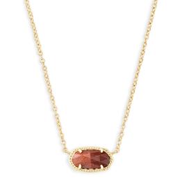KENDRA SCOTT Elisa Necklace Gold Orange Goldstone