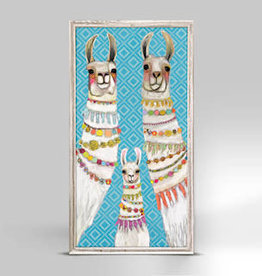 GREEN BOX ART MINI FRAMED CANVAS 5X10-NECKLACES ON BOHEMIAN PATTERN