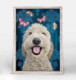 GREEN BOX ART MINI FRAMED CANVAS 6 X 6 - HAPPY DOG