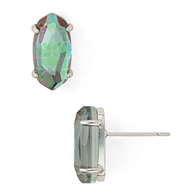 KENDRA SCOTT Betty Earrings Silver Dichroic Glass
