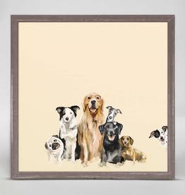 GREEN BOX ART MINI FRAMED CANVAS 6X6 - BEST FRIENDS PUPPY PACK