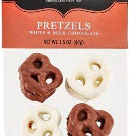 ABDALLAH CANDIES CANDIES WHITE & MILK CHOCOLATE PRETZELS