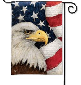 MAGNET WORKS LTD GARDEN FLAG AMERICAN EAGLE