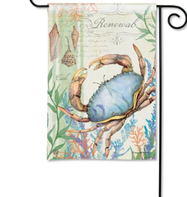 GARDEN FLAG ATLANTIC BLUE CRAB