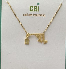 MARYLAND GOLD HOME STATE NECKLACE