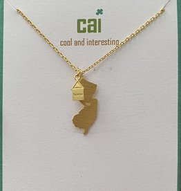 NEW JERSEY GOLD HOME STATE NECKLACE CAI