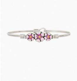 LUCA & DANNI Bangle Bracelet CHERRY BLOSSOM SILVER: LIVE LIFE IN FULL BLOOM-Regular Silver Tone