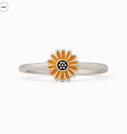 PURA VIDA Enamel Sunflower Ring Silver