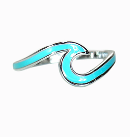PURA VIDA Enamel Wave Ring Silver
