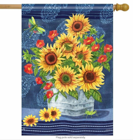 STANDARD FLAG DENIM SUNFLOWERS
