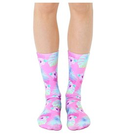 LIVING ROYAL Crew Socks- Pink Hibiscus