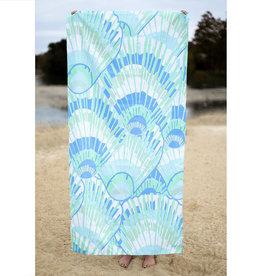 Beach Towel Seashell Blue/Green