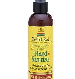 THE NAKED BEE 8oz Hand Sanitizer Orange Blossom Honey