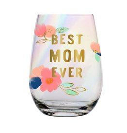 SLANT COLLECTIONS 20oz STEMLESS WINE GLASS BEST MOM EVER