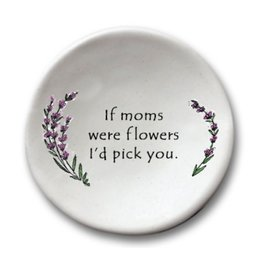 AUGUST CERAMICS ROUND DISH LAVENDER: IF MOMS WERE FLOWERS...