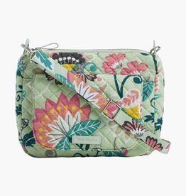 VERA BRADLEY Carson Mini Shoulder Bag Mint Flowers