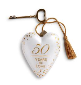 DEMDACO 50 YEARS OF LOVE ART HEART