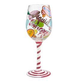 ENESCO LOLITA LIQUID THERAPY WINE GLASS