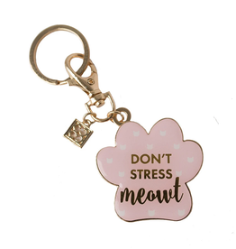 MARY SQUARE DON'T STRESS MEOWT KEYCHAIN