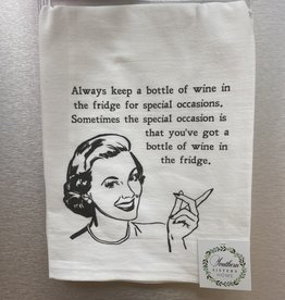 SOUTHERN SISTERS HOME Flour Sack Towel-Wine in the Fridge