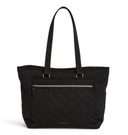 VERA BRADLEY Iconic Work Tote Black- Performance Twill