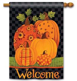 Patterned Pumpkins Standard Flag