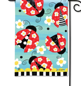 GARDEN FLAG FOLK LADYBUGS