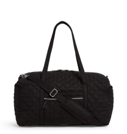 VERA BRADLEY Large Travel Duffel Black- Performance Twill