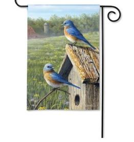 GARDEN FLAG SUMMER BLUEBIRDS
